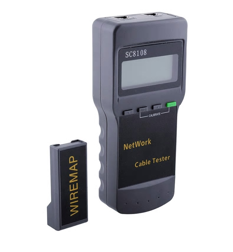 Quality Network Tester Meter LAN Phone Cable Tester Meter With LCD Display RJ45 SC8108 Portable LCD Free shipping  Quality Network Tester Meter LAN Phone Cable Tester Meter With LCD Display RJ45 SC8108 Portable LCD Free shipping