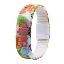 2017 new hot sale Fashion Ultra Thin Men Girl Sports Silicone Digital LED Sports Bracelet Wrist Watch  #0713