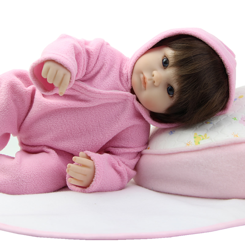 Silicone Vinyl Realistic Girl Reborn Baby Doll 18 Inches Lifelike Newborn Babies Dolls Wearing Pink Clothes Kids Birthday Gift can sit and lie 22 inch reborn baby doll realistic lifelike silicone newborn babies with pink dress kids birthday christmas gift