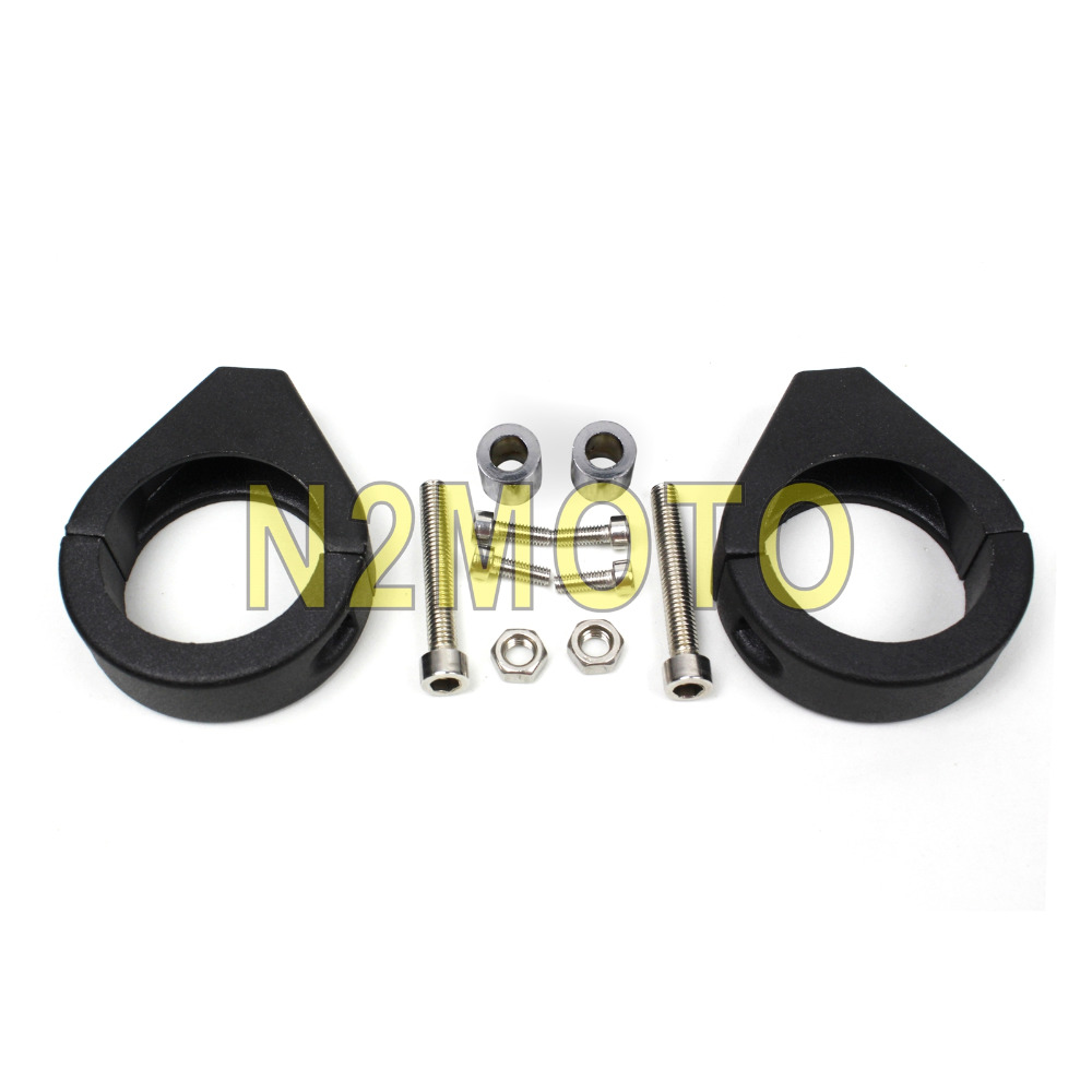 41mm Black Aluminum Turn Signal Light Relocation Clamp Kit Fork Clamp Support Bracket For Harley Touring Sportster Road King