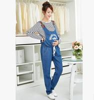New Maternity Pants Denim Trousers And Korean Fashion Waist Abdominal Coveralls Maternity Pants