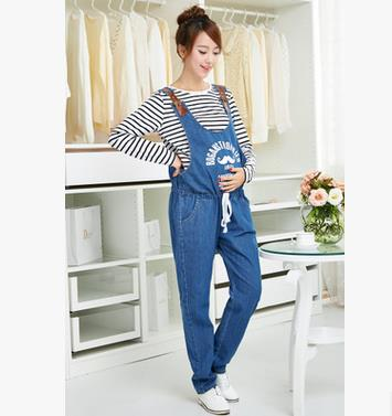 2017 New Maternity Bib Pants Denim Trousers Spring Autumn Jumpsuit Korean Fashion High Waist Overalls Pregnant Jeans SH-S119 autumn denim overalls for pregnant women jumpsuit pregnant clothes rompers jeans maternity overalls denim trousers y807