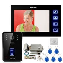 7 Inch Color Monitor Touch Video Door Phone Intercom Doorbell Home Security IR Camera Electronic Lock RFID Keyfobs