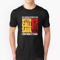 T Shirt Casual Better Call Saul Logo Men Natural Cotton Shorts Sleeve Clothes Custom Made Men