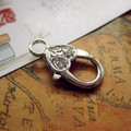 (Min Order 5$) Silver Plated(2PCS) Jewelry Accessory Lobster Clasps fit jewelry making(LXK003#) 14*16 mm