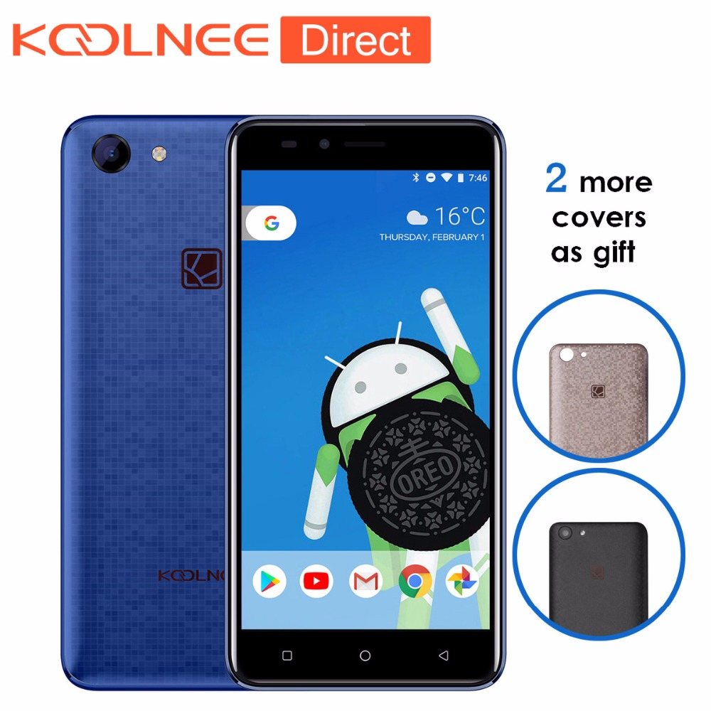 Koolnee Rainbow 5.0 inch 3G Smartphone MTK6580A Quad core Android 8.1 Cell Phone 1GB RAM 8GB ROM Original Mobile Phone