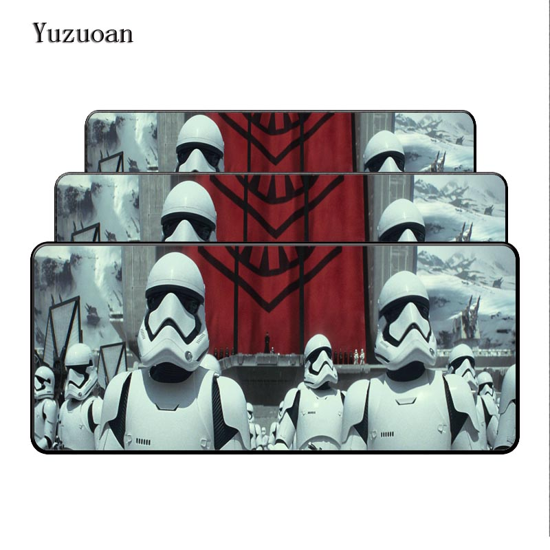 Yuzuoan оверлок края Звездные войны 700x300 мм коврик большой коврик для мыши Мышь профессиональный игровой Мышь ноутбука компьютер