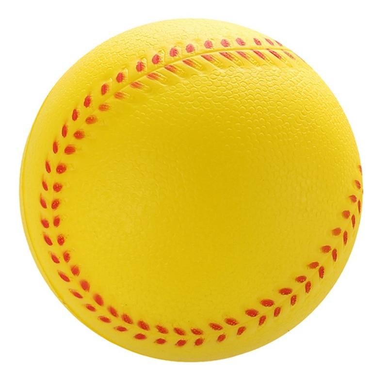 1pc White Yellow safety kid Baseball Base Ball Practice training PU child Softball balls for Sport Team Game