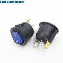 5 шт. Mini 3 Pin Круглый SPDT включения-выключения кулисный переключатель оснастки в синем цвете