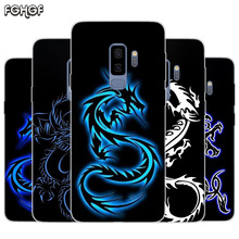 Beautiful Dragon Sketch Painted Pattern TPU Back Case For Samsung Galaxy A50 A30 A10 S10 lite S9 S8 Plus M10 M20 Cover
