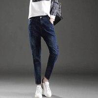 2017 Qiyan Nowy Gorący Mody Wysokiej Talii Spodnie Jeansy Kobiet Ołówek Sexy Szczupła Elastyczne Spodnie Skinny Fit Lady