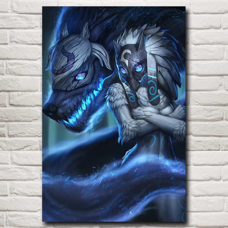 Kindred League Of Legends LoL Game Kunstzijde Poster Foto Thuis Muur Decor Printing 12x18 16X24 20x30 24x36 Inch Gratis verzending