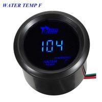 2 52mm Black Car Auto Digital Blue LED Water Temp Gauge Free Shipping