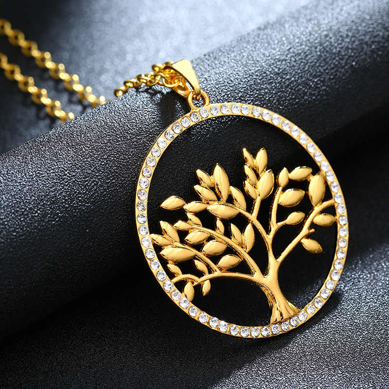 2018 ใหม่คลาสสิกต้นไม้ใบใหญ่จี้สร้อยคอ Lucky Talisman เครื่องประดับของขวัญ