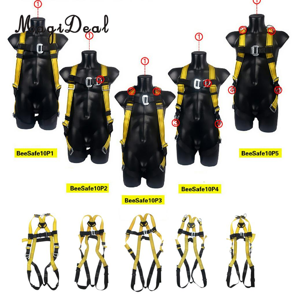 High Strength Poly Full Body Rock Climbing Harness Adults Safe Belts Guide Mountaineering Rappelling Equipment