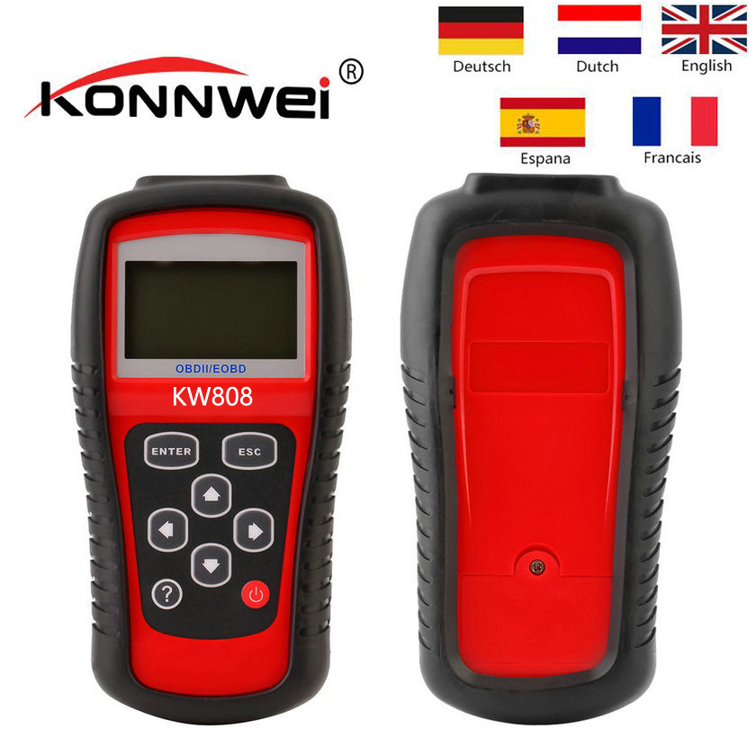 Lecteur de Code d'origine KONNWEI KW808 OBD2 KW 808 MS 509 Scanner automatique OBD2 MS509 OBD2 outil de Diagnostic