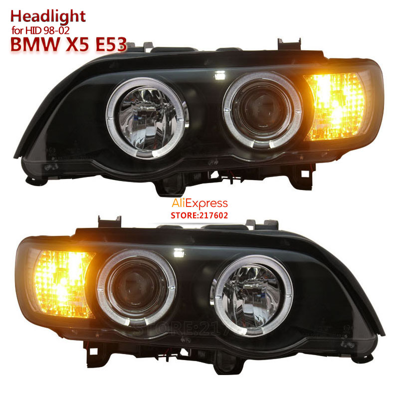 1998 2002 for BMW X5 E53 LED Projector Headlights fit 1998 2002 year Car Original with HID headlights models