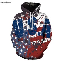 Autumn Winter Fashion Sweatshirts Men Women Flowers Hoodies Print American Flag Hooded Hoodies Thin Autumn Tracksuits