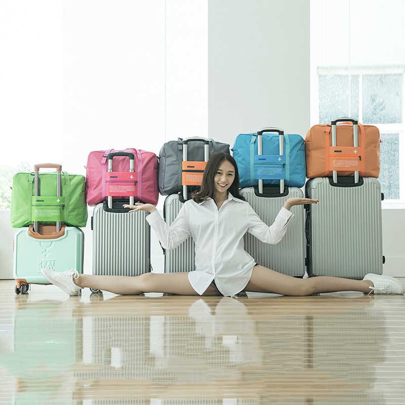 حقائب السفر مقاوم للماء السفر للطي حقيبة سعة كبيرة حقيبة الأمتعة النساء النايلون للطي حقيبة السفر حقائب شحن مجاني