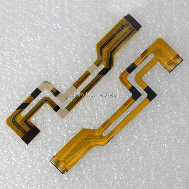 2PCS LCD Hinge Rotate Shaft Flex Cable For Sony DCR-HC17E HC19E HC21E HC22E HC24 HC32E HC33E HC39 HC42 HC43 Video Camera