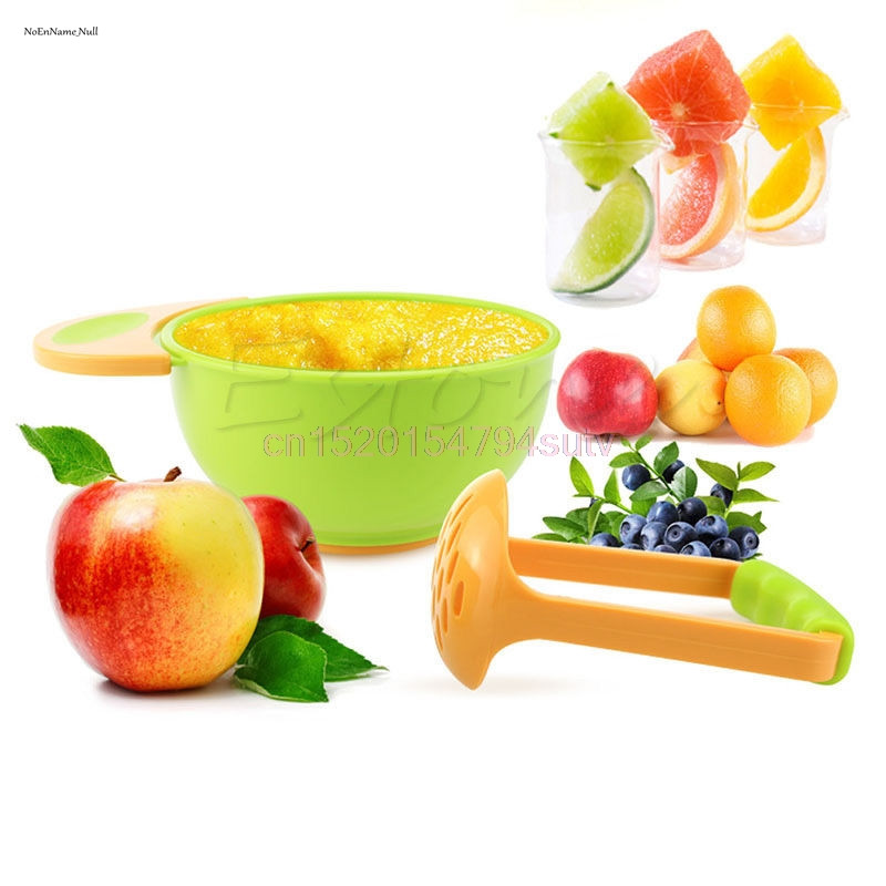 Baby Mill Grinding Bowl Kids Handmade Grinding Food Learn #h055#
