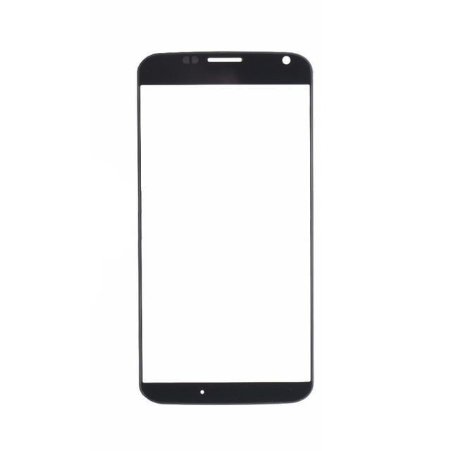 """50Pcs/Lot Black for Motorola Moto X XT1052 XT1053 XT1055 XT1056 XT1058  Front Glass 4.7"""" Touch Screen Outer Panel Repair Part"""