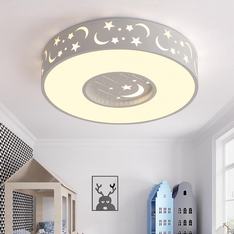 Us 1680 Kinder Lampe Raum Decke Mädchen Kreative Fernbedienung Warm Sterne Led Schlafzimmer Lampe Einfache Runde Jungen Cartoon Decke Lampe Za