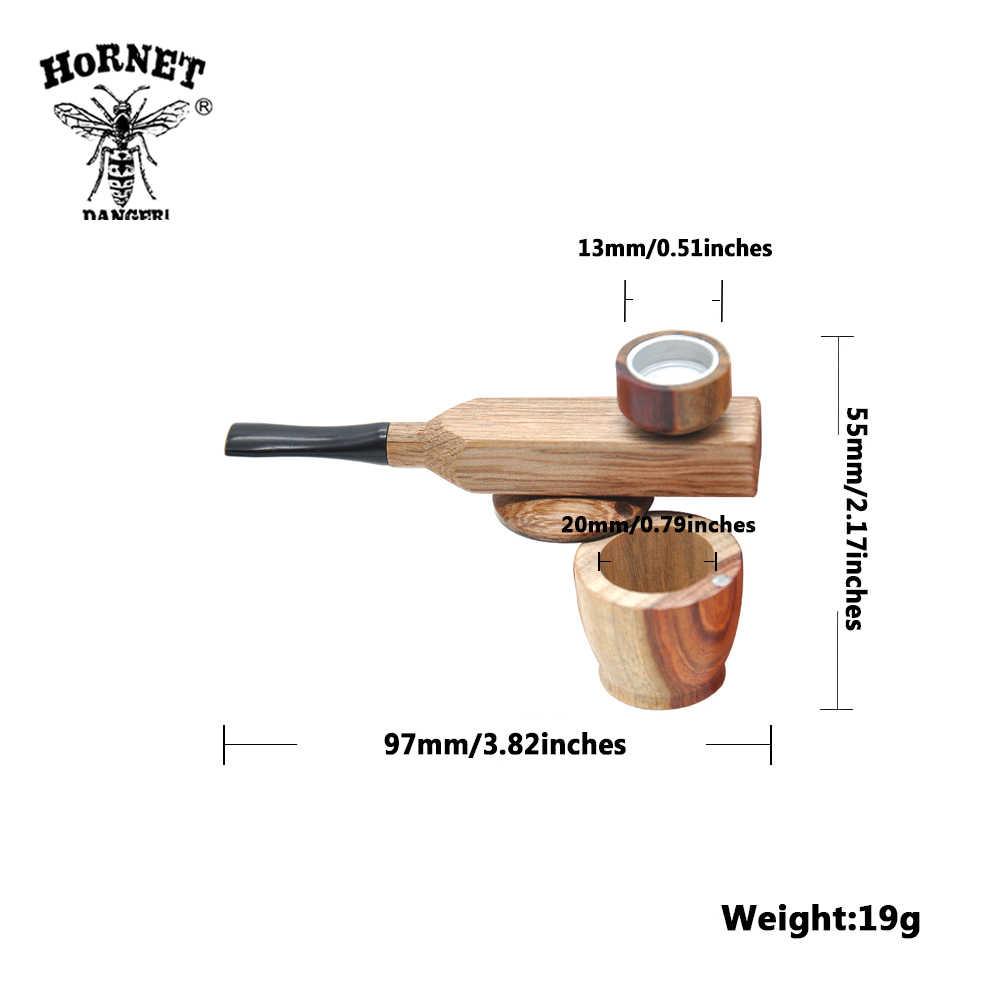 ホーネット新到着白檀 & 回す金属喫煙パイプ喫煙パイプポータブル金属パイプタバコ収納溝