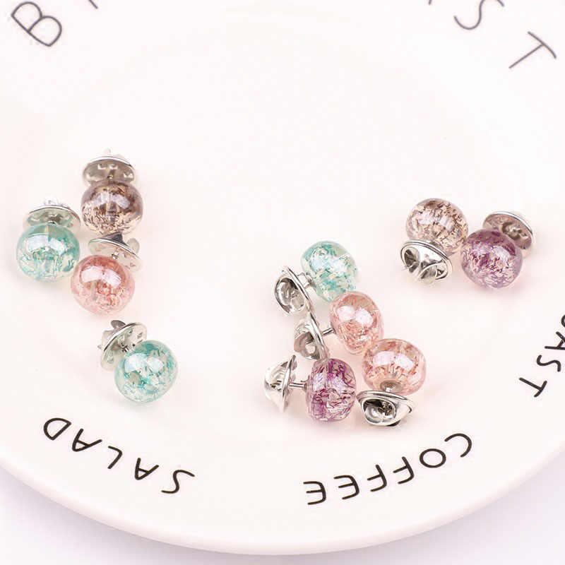 Audwhale Bros Pin untuk Wanita Trendi Resin Sweater Kerah Jilbab Pin Bulat Gaya Wanita Bros Perhiasan Wanita Bros Perhiasan