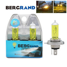 цены на 2PCS H4 Yellow Bulb 60/55W Lights Bulbs Halogen Bulbs Yellow Car Headlight Bulbs Best Penetration For Foggy Rainy Bad Weather  в интернет-магазинах