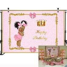 Neoback Litter Prinses Verjaardagsfeestje Fotografie Achtergronden Royal Baby Shower Decoratie Foto Achtergrond Fotografie