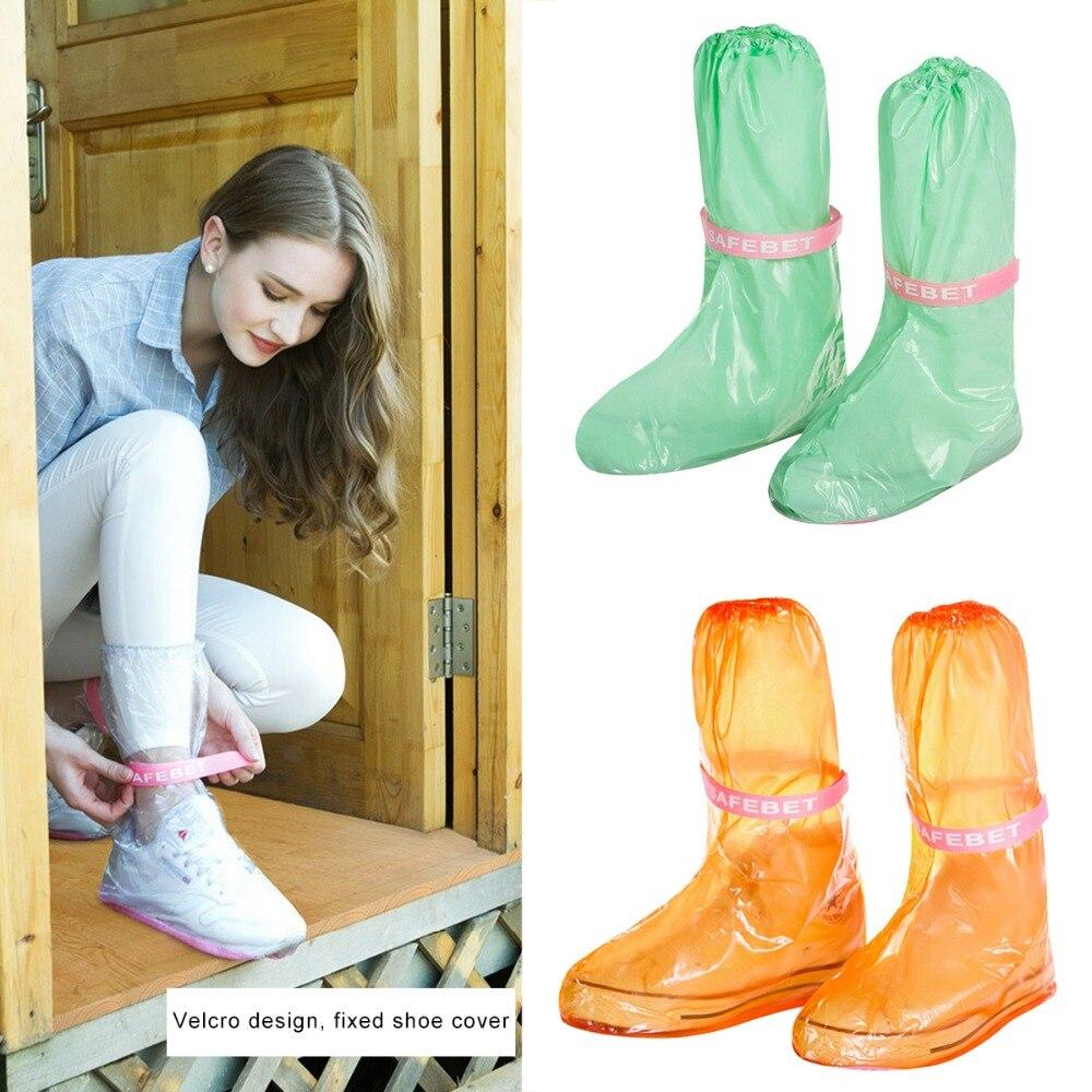Waterproof Rain Reusable Shoes Covers, All Seasons Slip-resistant Zipper Rain Boots Overshoes, Men&Womens Shoes Accessories HG6