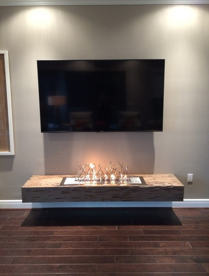 Inno-living 48 Inch Stainless Steel  Bio Ethanol Burner TV Fireplace