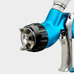 Image 2 - Prona R 4303 MP HVLP vernice auto pistola a spruzzo, media pressione R4303 auto pittura pistola, 600cc tazza di plastica di gravità tipo di alimentazione, libera la nave