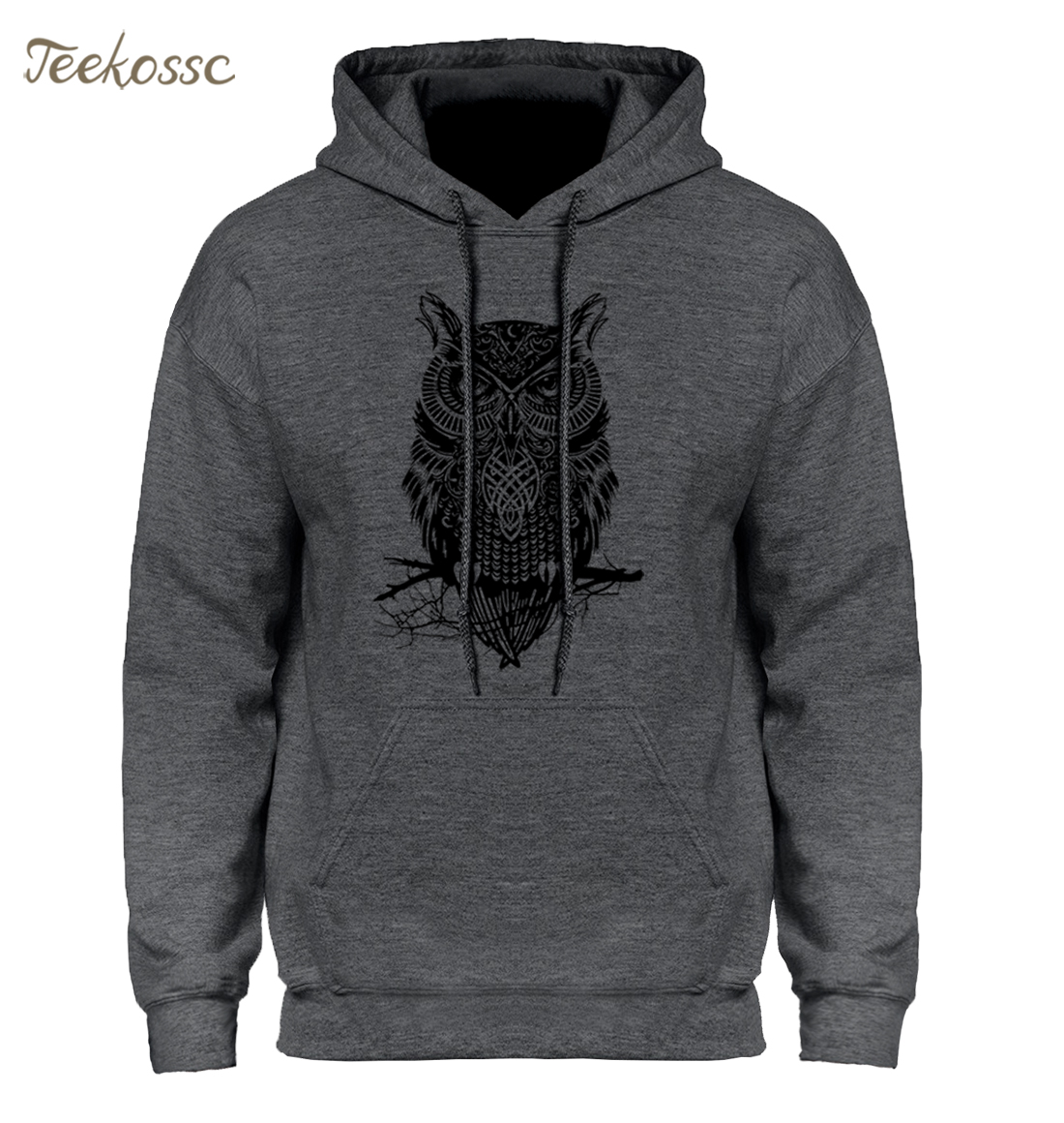 Animal Owl Hoodie Hoodies Sweatshirt Men 2018 New Fashion Spring Autumn Casual Hooded Hoody Men's Sportswear Brand Clothing Male