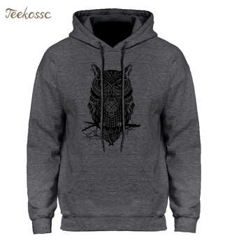 Animal Owl Hoodie Hoodies Sweatshirt Men 2018 New Fashion Spring Autumn Casual Hooded Hoody Men's Sportswear Brand Clothing Male - DISCOUNT ITEM  42% OFF All Category