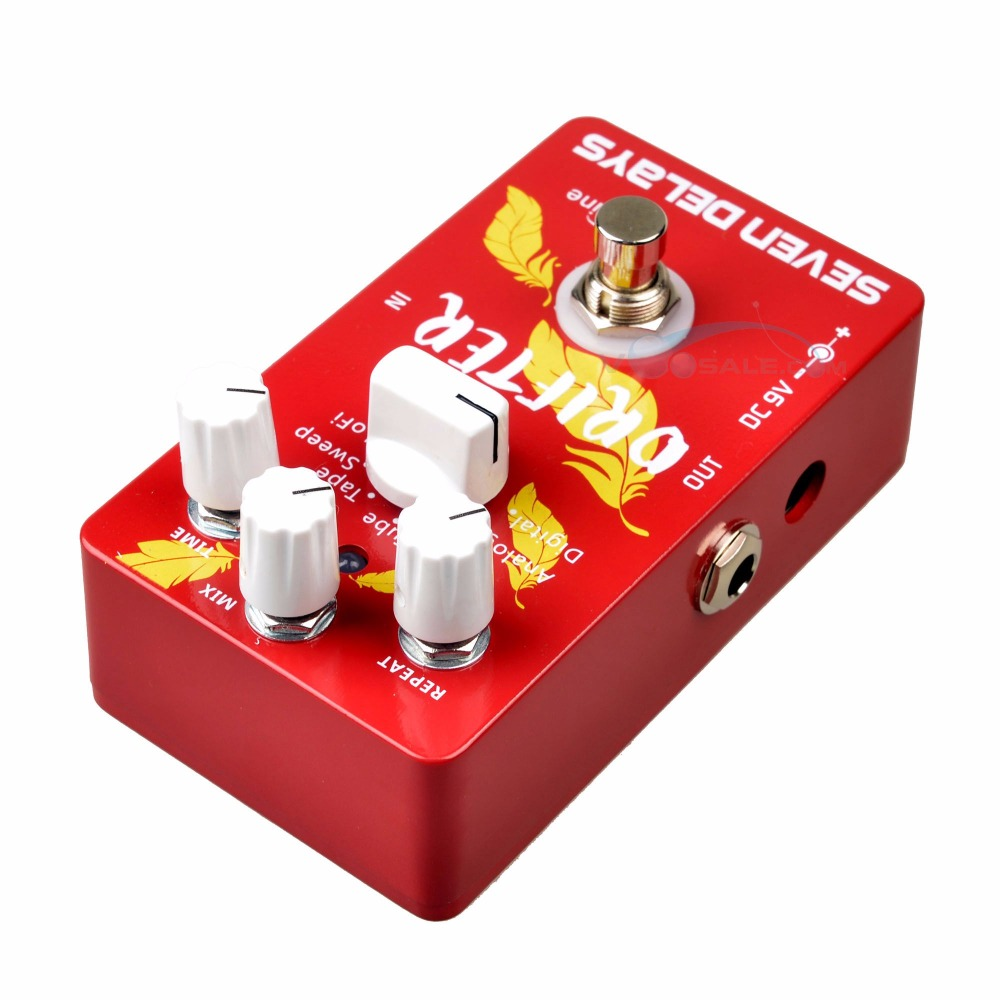 Caline CP-37 SEVEN DELAYS Guitar Effects Pedals Digital Circuit Design True Bypass Pedal Aluminum-alloy Pedal Guitarra caline cp 29 guitar effect pedal mixing boost white heat true bypass design