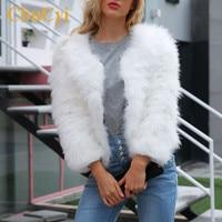 CbuCyi Women Fur Coat Autumn Winter Plus Size 3XL Fluffy Faux Fur Coat Women Furry Short Jacket Outwear Casual Warm Bolero Coats