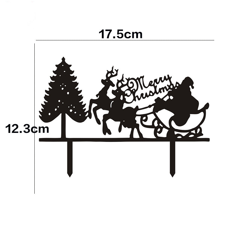 Merry Christmas Images Black And White.Us 2 04 13 Off Hot Sale Santa Claus Merry Christmas Cake Flags With Christmas Tree Black White Acrylic Cake Topper For Xmas Party Cake Decor In Cake