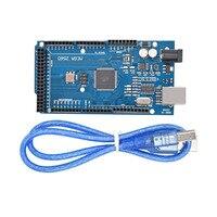 Free Shiping 5PCS Mega 2560 R3 Mega2560 REV3 ATmega2560 16AU Board USB Cable Compatible For