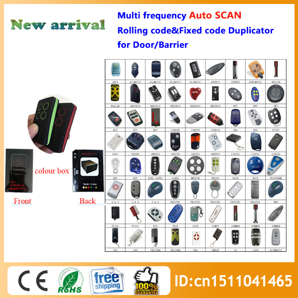 280-868MHz Multi-Frequency Universal RF Remote Control Duplicator can Copy Rolling Code Remote