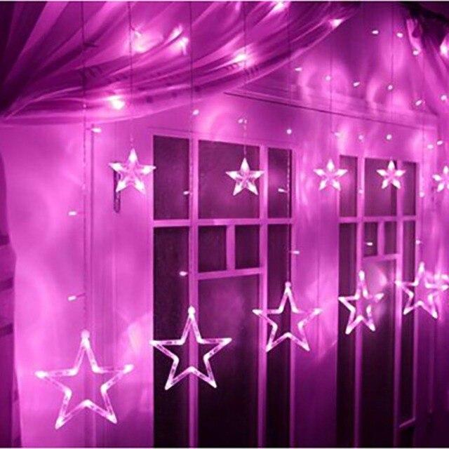 220 V Star String Fairy LED Lampen Hängen Vorhang Lichter Lampen ...