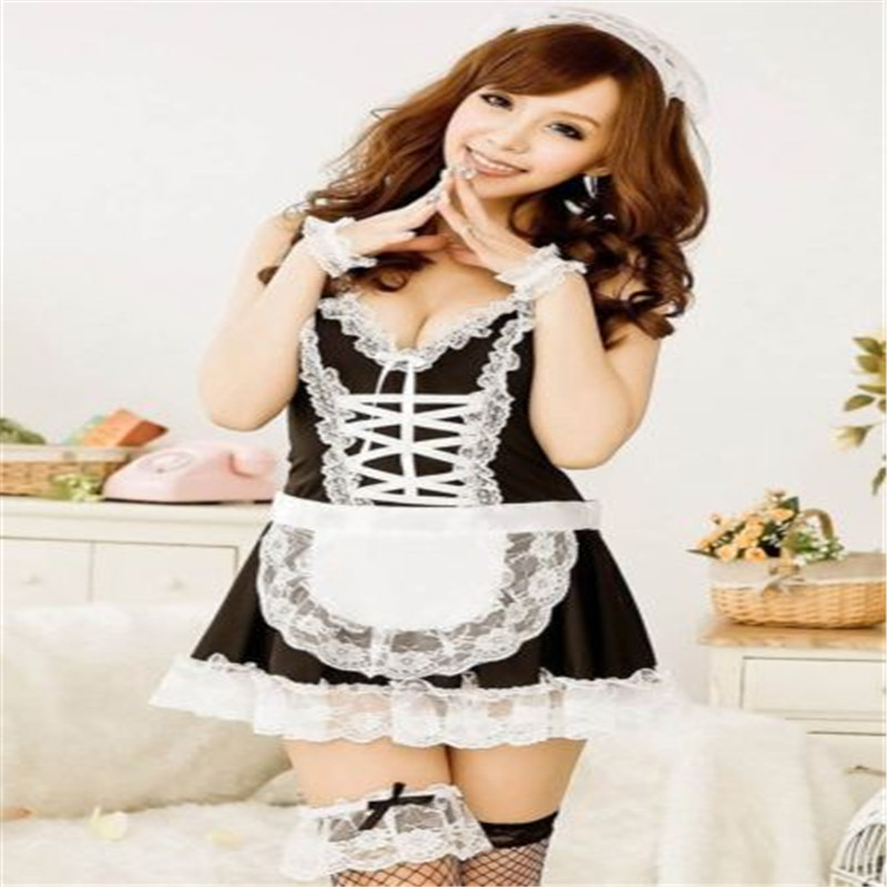 Sexy Lingerie Uniform Dress Babydoll Maid Servant Role-Play Lolita Erotic French Hot