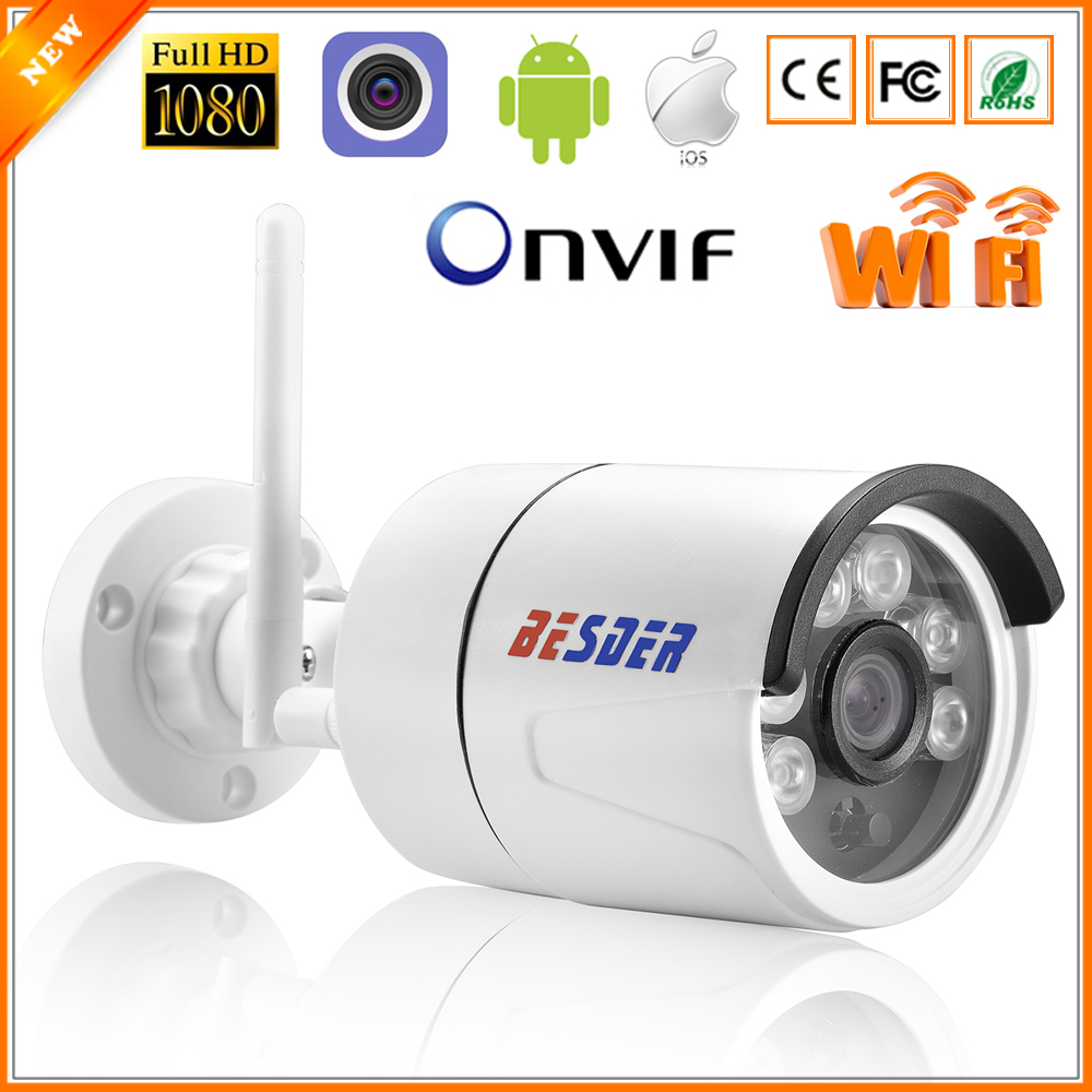 BESDER CamHi IP Camera Wireless 1080P With Micro SD Card Slot ONVIF Home Surveillance Camera Wi-fi Chrome IE Website Interface iPhone
