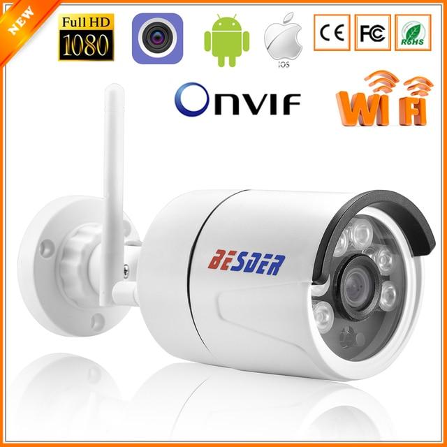 Kamera BESDER CamHi IP bezprzewodowa 1080P z gniazdo karty Micro SD ONVIF kamera do monitoringu domu Wi fi Chrome IE interfejs strony internetowej