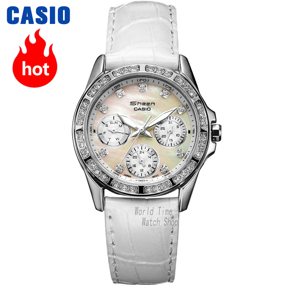 Casio watch Fashion diamond waterproof quartz watch SHN-3013L-7A SHN-3012GL-7A casio watch casual business waterproof quartz ladies watch shn 4019dp 4a shn 4019dp 7a shn 4019lp 7a