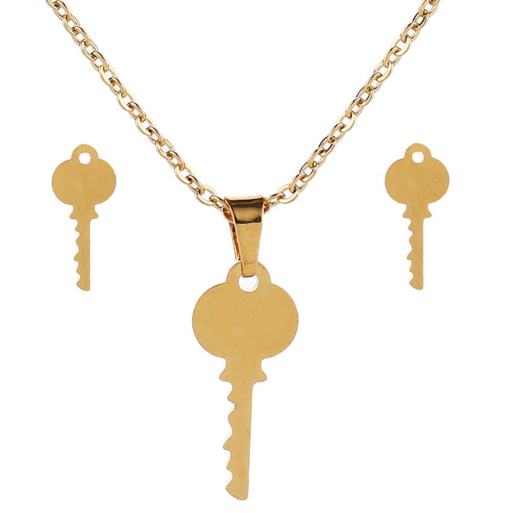 ORCHYO Pendant Necklace Earrings Jewelry-Sets Best-Gifts Stainless-Steel Wholesale Women