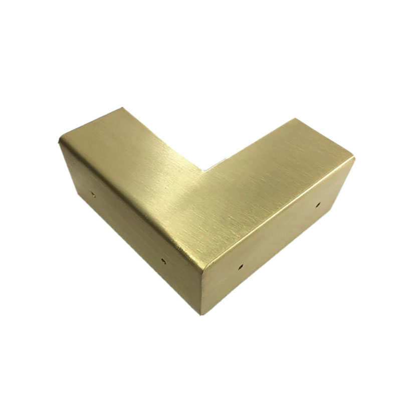 "4Pcs 2.5/"" Brass Flat Corners Bracket for Box Cabinet Decorative Furniture Brass"