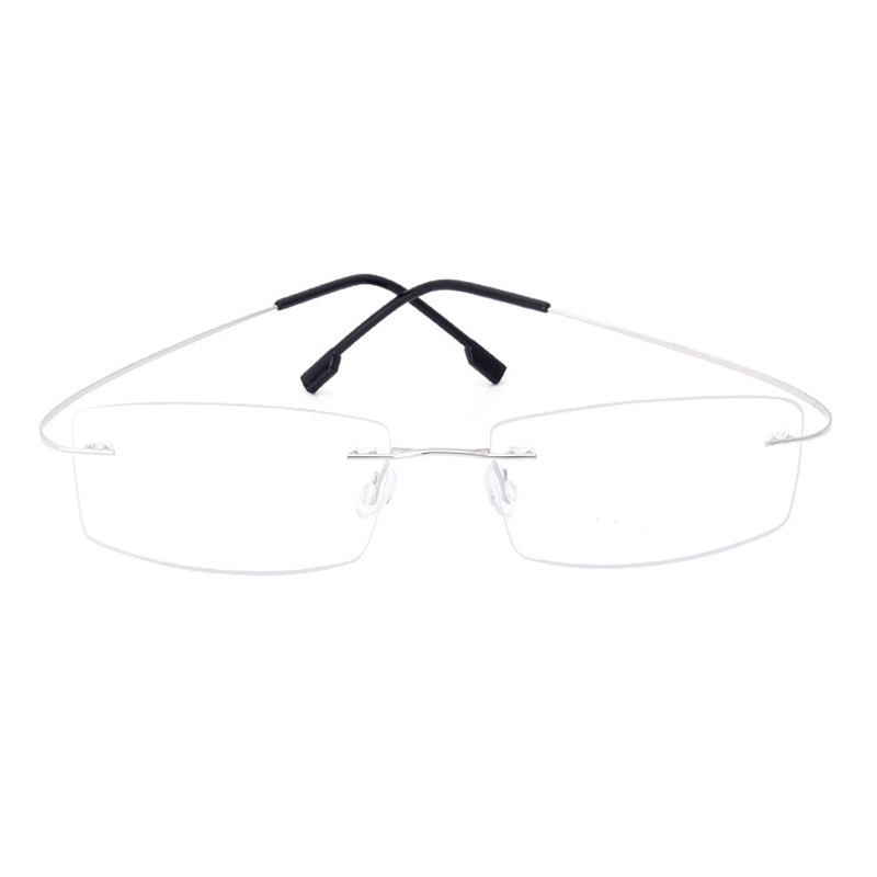 Handoer J0860 Rimless Optical Glasses Frame For Men Spectacles Glasses Optical Prescription Frame Flexible Titanium Legs