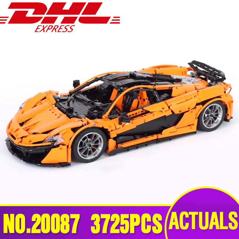 DHL Lepin 20087 Technic Car The MOC-16915 Orange Super Racing Car Set Building Blocks Bricks Legoing Toy Model as Christmas Gift